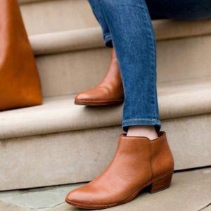 San Edelman cognac petty Chelsea ankle bootie